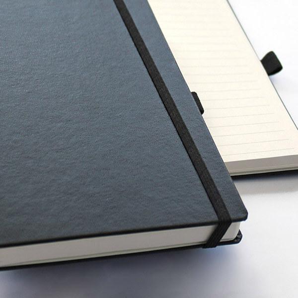 muistikirja on Bullet journalistin työkalu. Logolla koristeltu muistikirja herättää keskustelua